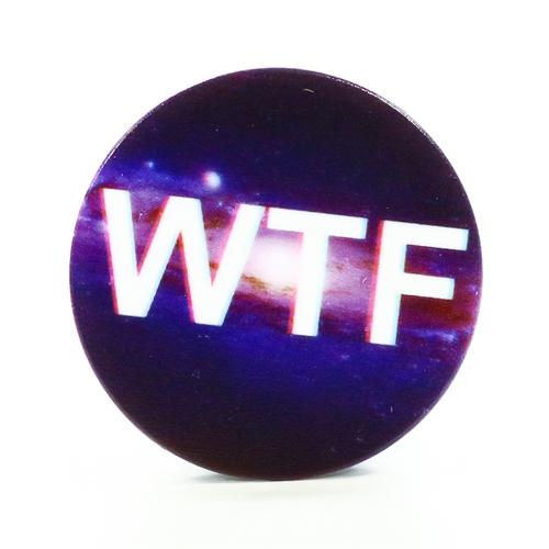 Попсокет для телефона WTF Black (Y189), Goodcom фото